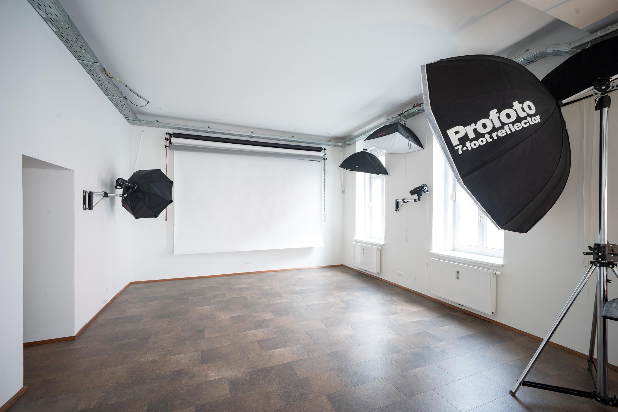 Foto von der Studiofläche des Fotostudio Blendpunkt in Graz